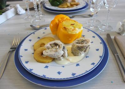 Assiette de rotis et son accompagnement