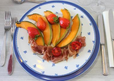 Assiette de melon et jambon de Parme