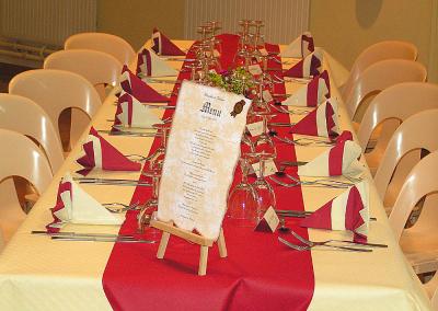 Mise en place des tables